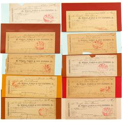 Collection of Wells Fargo Consignee's Receipts from Carson City Bank shipping Gold Bars