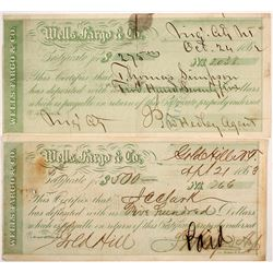 Wells Fargo Certificates of Deposit for Gold Hill & Virginia City, Nevada Territory