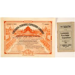 Louisiana Purchase Exposition Stock Certificate & Booklet, 1904