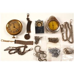Antique Timepieces, Watch Fobs, and Chains