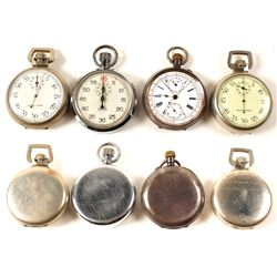 Four Men's Pocket Timer Watches