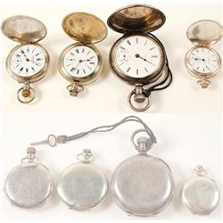 Four Sterling Pocket Watches