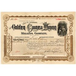 Golden Guinea Mining & Milling Co. Stock Certificate, Cripple Creek 1898