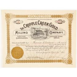 The Cripple Creek Gold Milling Co. Stock Certificate, 1894