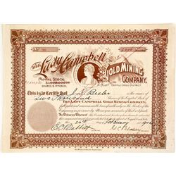 The Lady Campbell Gold Mining Co. Stock Certificate, Cripple Creek, CO, 1902