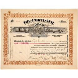 The Portland Gold Mining Company Stock Certificate, Cripple Creek
