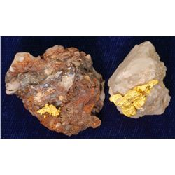 Two Crystalline Gold Specimens