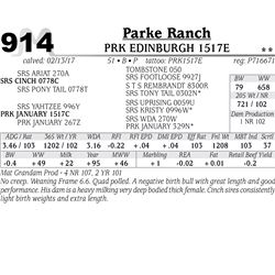 Lot - 914 - PRK EDINBURGH 1517E