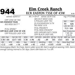Lot - 944 - ECR EASTON 735E OF 43W