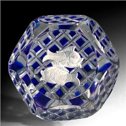 274: Baccarat Pisces Zodiac Paperweight