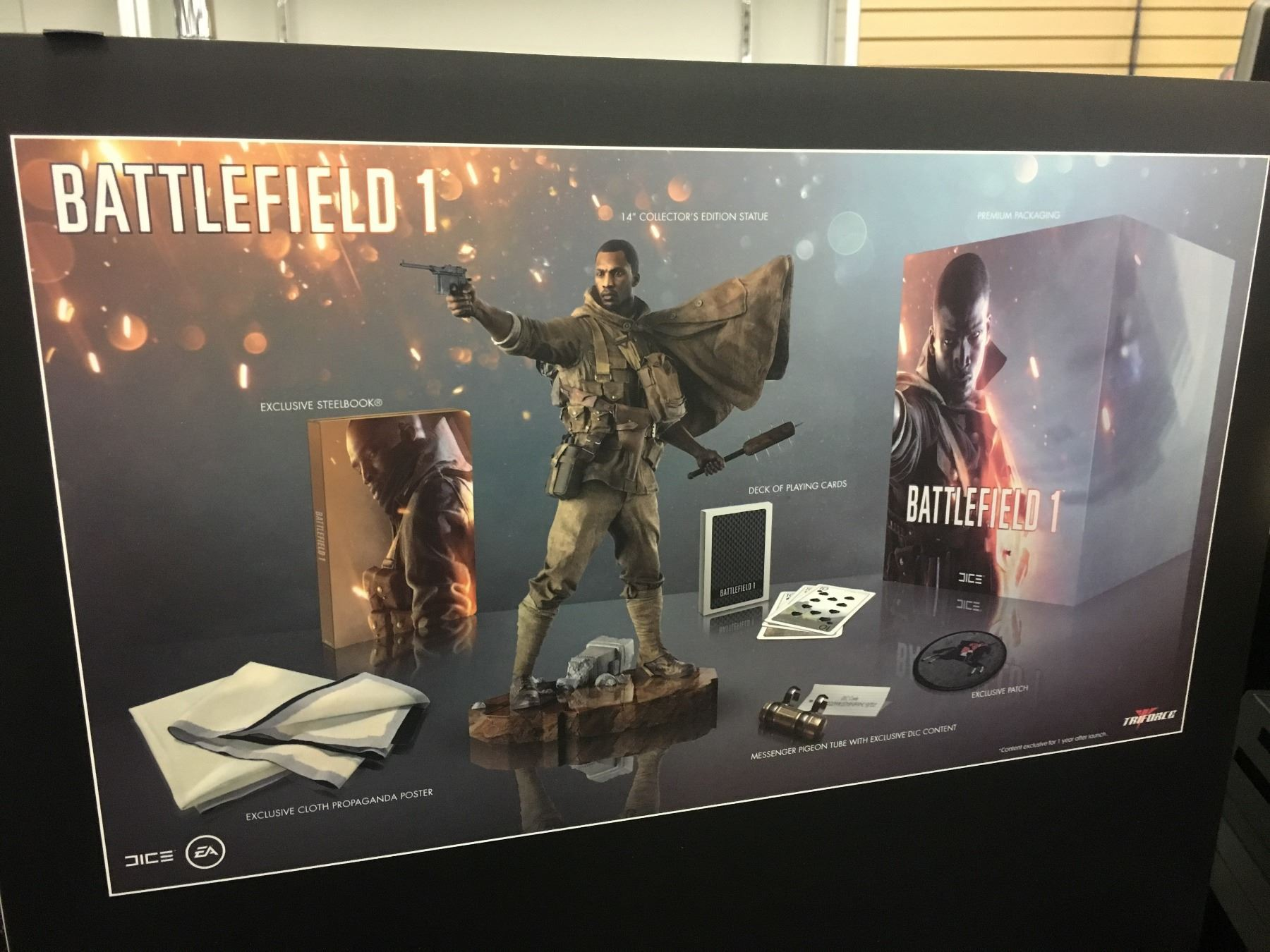 Battlefield 1 Collectors Edition Ps4 Game Bundle With Statue Steel Image 2 Book