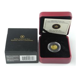2013 999 Pure Fine Gold Coin RCM - 50 Cents. (SOR)