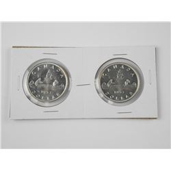 2x 1953 Canada Silver Dollars: Shoulder Strap and