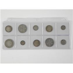 10x NFLD Silver Coins