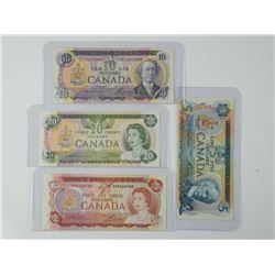 Lot (4) Bank of Canada Multi Colour Series Notes: