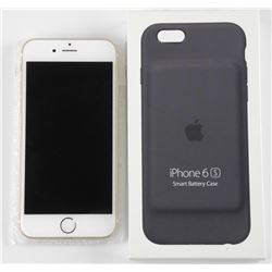 Apple 'Gold' iPhone 6s with Case. Unlocked. 128GB