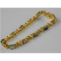 Estate Ladies 18kt Gold Plated over 925 Sterling S