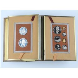1973 Cook Islands - 9 Coin Set with Silver - Book