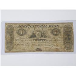 Agriculture Bank - Toronto 1834 $4.00 (MER)