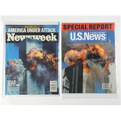 Lot (2) Newsweek World Trade Centre Special Issue