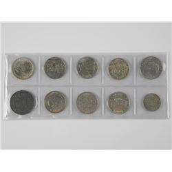 10x World Silver Coins. Mix Countries. Over 3oz AS