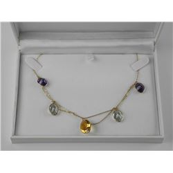 Ladies 14kt Gold Custom Fancy Necklace with 27.00c