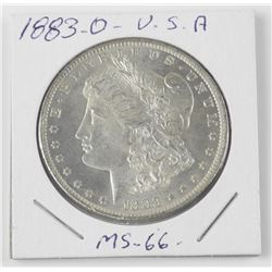 1883-O USA Silver Morgan Dollar Coin. MS-66 (SCE)
