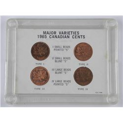 1965 Major Varieties Cents. Cased.