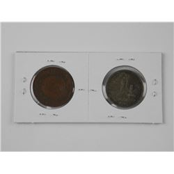 2x Russian Coins - 1895 and 1894