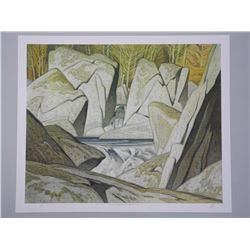 A.J. Casson (1899-1992) Litho 'Rock Cluster, Madaw