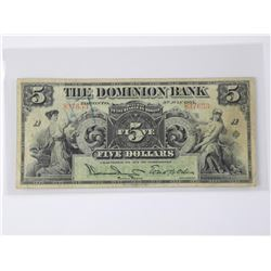 The Dominion Bank 1905 - Five Dollar Note (GXR) (M