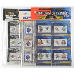 Lot - NHL Stamps and Cards with Gretzky and Howe