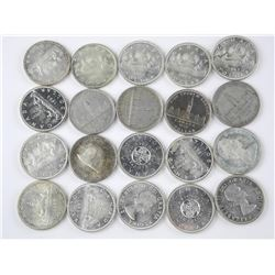20x Canada Silver Dollars. Mixed Years
