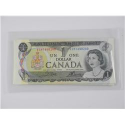 29x Bank of Canada 1973 One Dollar Note. In Sequen