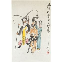 Ding Yanyong 1902-1978 Chinese Watercolour Scroll