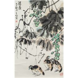 Li Kuchan 1899-1983 Chinese Watercolour Scroll