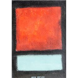 Mark Rothko 1903-1970 American Oil Composition
