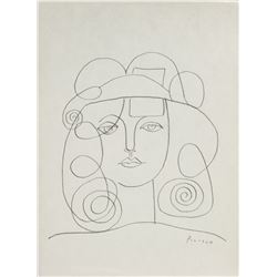 Pablo Picasso 1881-1973 Spain Pencil Portrait