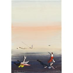 Yves Tanguy 1900-1955 French Tempera Composition