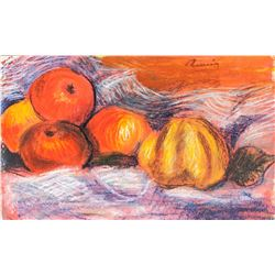 Auguste Renoir 1841-1919 French Tempera Still Life