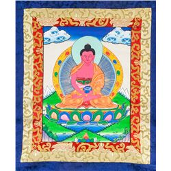 Tibetan Amitabha Thangka Painting Scroll