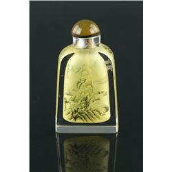 Snuff Bottle Painted Inside Signed Ma Shaoxuan