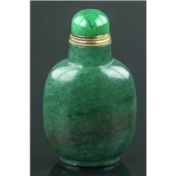 Chinese Green Hardstone Snuff Bottle