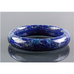 Chinese Lapis Carved Bangle