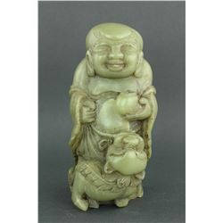 Chinese Green Jade Carved Figure