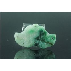 Chinese Green Jadeite Carved Pendant