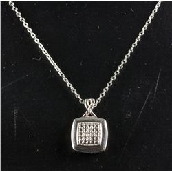0.10ct Diamond Sterling Silver Necklace CRV $610