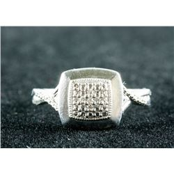0.20ct Diamond Sterling Silver Ring CRV $997