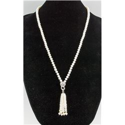 Sterling Silver Pearl Necklace CRV $650