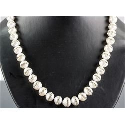 Sterling Silver Pearl & Crystal Necklace CRV $600